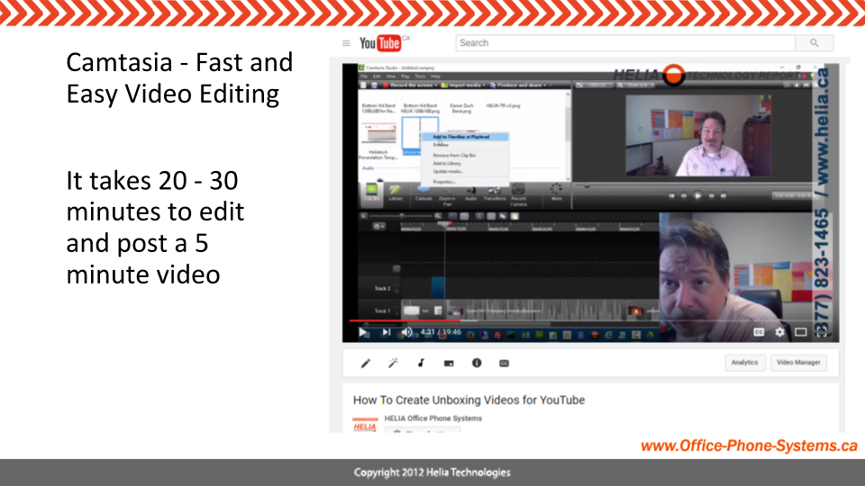 Use Camtasia to edit and produce your YouTube Video