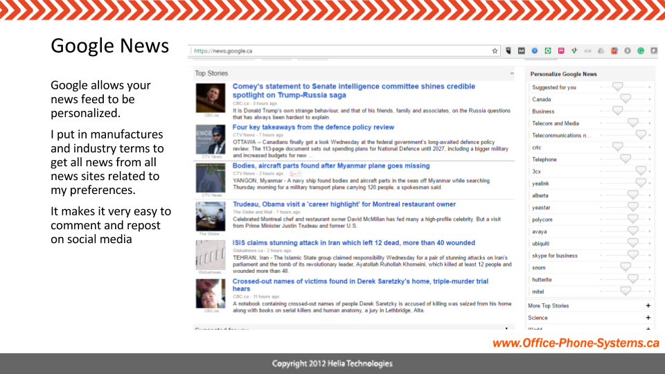 Google News Aggregator allows personalized news