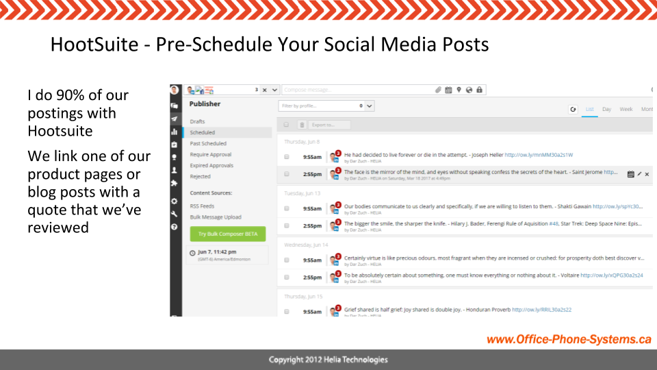 Hootsuite Schedules Posts for Social Media