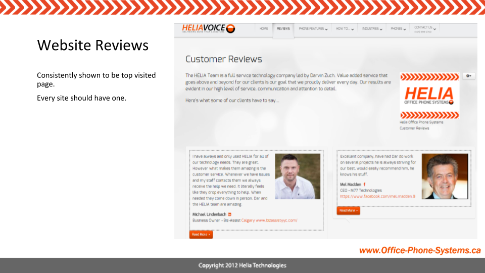 Include a Review Page on Your Website