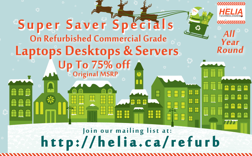 Save Valuable Cash with Refurbished Laptops, Desktops and Servers