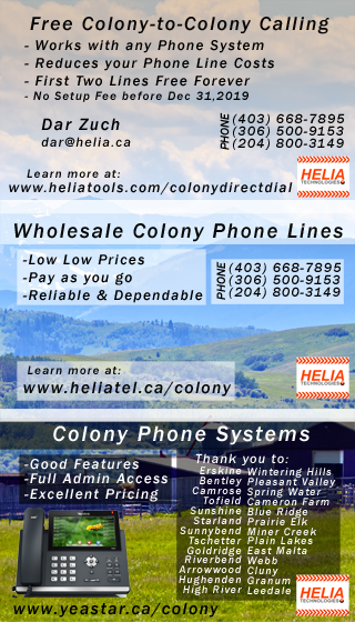 Phone Services for Hutterite Colonies - HELIA Technology Report
